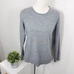 Ellen Tracy Gray 100% Merino Wool Sweater Large